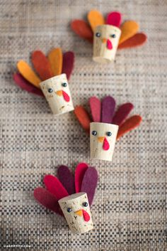 #kidscrafts #kidsactivities #Thanksgiving #corkturkeys www.LiaGriffith.com: