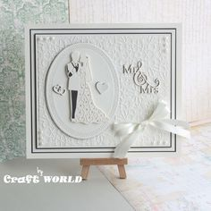 Uses the new Sue Wilson Die: Shadow Box Collection - Mr & Mrs (CED9304)…