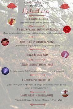 7 méthodes pour équilibrer et soigner le chakra de la base, Muladhara ou le chakra racine.