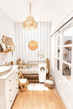 If you are looking to create light and airy baby room in a tiny space, make sure to tour this room for some major nursery styling inspiration! Small Baby Nursery, Small Space Nursery, Baby Nursery Decor, Baby Bedroom, Baby Boy Rooms, Baby Decor, White Nursery, Project Nursery, Baby Nursery Ideas For Boy