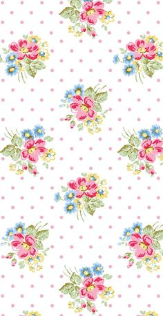 Miniature Printables - Wallpaper by Cath Kidston Cath Kidston Wallpaper, Pink Wallpaper Iphone, Pink Iphone, Trendy Wallpaper, Background Vintage, Background Patterns, Motifs Aztèques, Scrapbook Paper, Scrapbooking