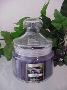 Muscadine - 16 oz. Apothecary Jar Scented Candle. Burn up to 100 hours per candle. Premium scented 16 oz Apothecary Jar Candle made with premium grade fragrance oil and non-lead wicks. Made in the USA.