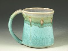 """Visualize a cup of peace in this turquoise mug. """"My cup runs over with love, joy, peace."""" I am filled to the brim..."""