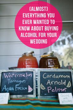 (almost) Everything You Need To Know About Buying Alcohol For Your Wedding
