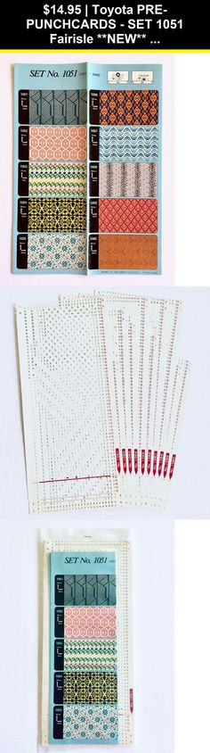 Toyota PUNCHCARDS 5051-5060 CARD SET 5051 Lace **NEW** 10 Cards  NO