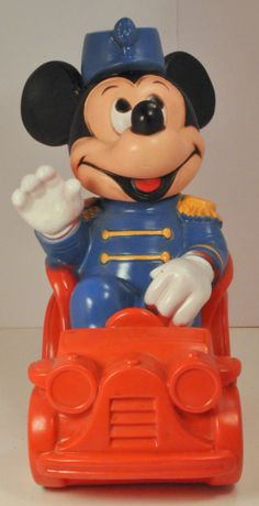 Items similar to Vintage Disney - 1977 Mickey Mouse Band Leader Coin Bank on Etsy Young At Heart, Mickey Minnie Mouse, Vintage Disney, Vintage Toys, Band, Disney Characters, Handmade Gifts, Etsy, Kid Craft Gifts