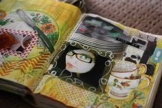 Courtney Brook - Little Raven Ink  Art Journal Pages  Blogged : http://ravenscauldron.blogspot.com.au