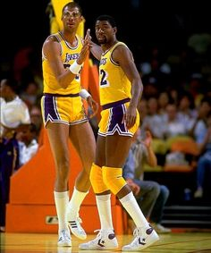 Kareem Abdul-Jabbar and Magic Johnson (Los Angeles Lakers)