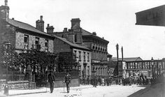 Looking down Regent Street: Edwin Liversedge's premises are on the right with Dr. Sykes's house on the left and Court House Station lower down.