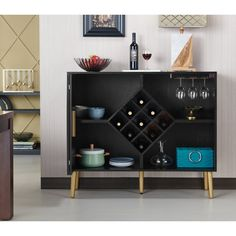 Miko Wine Cabinet Galaxy Black - Homes: Inside + Out : Target Small Bar Cabinet, Wine Bar Cabinet, Wine Cabinets, Bar Cabinets For Home, Black Bar Cabinet, Modern Bar Cabinet, Crockery Cabinet, Black Buffet, Black Sideboard