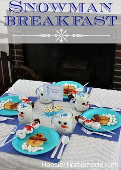 Snowman Breakfast. Maybe for New Years since we already have our Christmas Breakfast tradition set.