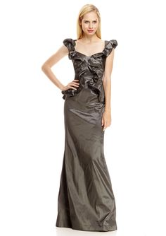 On ideel: KAY UNGER Ruffle Bodice Gown