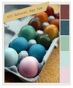 "dunno if i have the patience for ""naturally dyed eggs"", but i sure love the colors!"