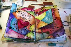 Simply Me. Mixed media art. Art journal.
