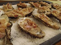 Cream and bacon oyster