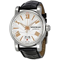 Montblanc Star 4810 Silver Guilloche Dial Black Leather Automatic Mens Watch 105858 Check https://www.carrywatches.com