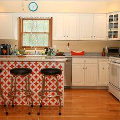 My kitchen. Stencil from cuttingedgestencils.com.