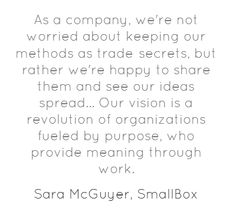 We're Happy To See Our Ideas Spread @sara_mc @SmallBox