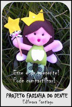 Green tooth fairy part 1 parts)? Felt Diy, Felt Crafts, Diy Crafts, Felt Patterns, Stuffed Toys Patterns, Felt Dolls, Baby Dolls, Felt Angel, Fairy Doors