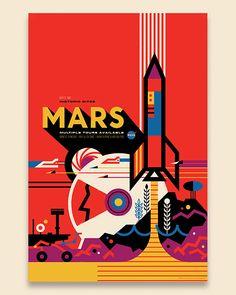NASA retro poster Mars
