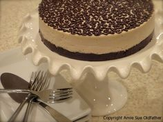 Raw Vegan Frozen Chocolate Peanut Butter Buckeye Cake....  Super Yummy!  I've made this several times now and it is always a hit