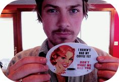 Taylor Hanson: coffee enthusiast (& a ridiculously good looking fellow)