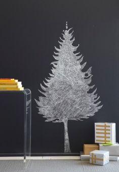 Chalkboard Christmas Tree. So sweet!