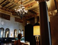 A glimmer of true Hollywood glamor at the Hollywood Roosevelt lobby in Los Angeles