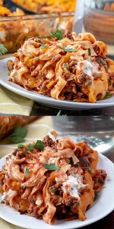 This Beefy Sour Cream Noodle Bake is pure comfort food! Wide egg noodles and a meaty sauce with a creamy middle layer, all topped with Cheddar cheese! and Drink meals Beefy Sour Cream Noodle Bake Egg Noodle Recipes, Meat Recipes, Dinner Recipes, Dutch Oven Pasta Recipes, Recipes Using Egg Noodles, Oven Recipes, Recipies, Queso Cheddar, Cheddar Cheese