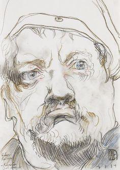 Horst Janssen - Porträt Heinrich George