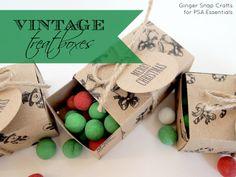 vintage treat boxes with PSA Essentials {tutorial}