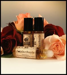 Rose Mallow Cream Perfume Oil Solstice Scents. This has quickly become a go-to scent. The rose is a fresh (non-powdery) rose that lingers for the first couple of hours. The mallow holds steady, then as the rose dies down, this turns into a comforting and sweet vanilla scent.