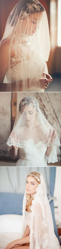25 Stunning Lace Veils for Stylish Brides - Jannie Baltzer