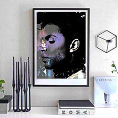 Prince Wall Art Purple Rain Album Art Print by BlendedArtDesigns