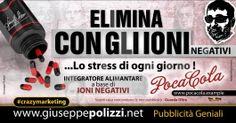 giuseppe Polizzi pubblicita CON GLI IONI NEGATIVI crazymarketing genius