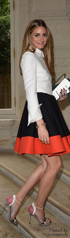 Olivia Palermo Street Style. Beautiful color combination..Shoes are amazing!