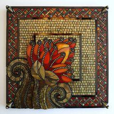 Resultado de imagem para metallic mosaic art