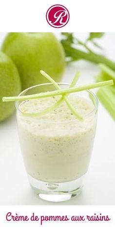 Un dessert frais et léger : la crème de pommes aux raisins : http://www.recettes.net/desserts/creme-de-pommes-aux-raisins,,429.html #cuisine #recette #food #fruit #sucré #light #minceur #foodista #foodie