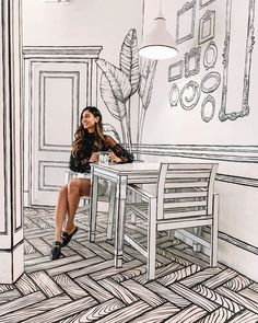 Farh from Ordinary Cafe Interior Design, Cafe Design, Store Design, Funky Furniture, Furniture Design, Posca Art, 2d Design, Restaurant Furniture, Retail Design