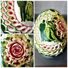 carving fruit carving watermelon birthday gift thai carving inspiration meloun Trutnov dárek inspirace kytky květiny flower flowers wedding decoration svatba