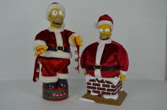 2 Homer Simpson Animated Santa Claus Gemmy Chimney and Deck the halls Christmas Homer Simpson, Deck The Halls, Ronald Mcdonald, Santa, Animation, Christmas, Fictional Characters, Ebay, Collection