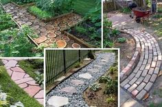 Small Patio Ideas On A Budget | Garden Pathways Materials Image 327 Landscaping Ideas for Front Yard by jeannie