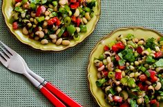 Black-Eyed Pea Salad with Peppers, Cilantro, and Cumin-Lime Vinaigrette — Punchfork