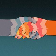 #art #drawing #peace #love #communication #equality #voice #listen #handshake