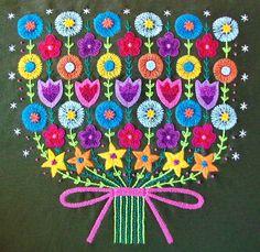 Swedish inspiration hand embroidery