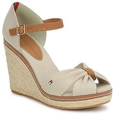 8446093d1493 Sandales Tommy Hilfiger EMERY OPEN Beige Chaussures Femmes