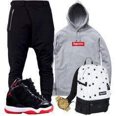 """Supreme! ... So I realized someone has been taking my sets !!!! Lol I'm flattered to be honest. Thanks for the love. Wish people where more OG."" by dash-of-thug on Polyvore"