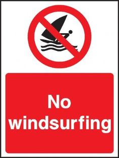 No windsurfing safety sign