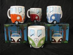 Retro Volkswagen Bus mugs