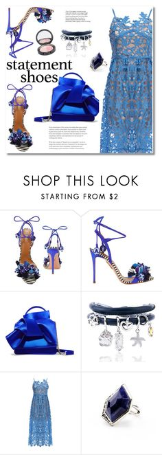 """""""Statement shoes"""" by fshionme ❤ liked on Polyvore featuring Aquazzura, N°21, StreetStyle, Spring and Blue"""